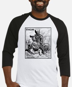 THOR WITH THRALLS AND CHARIOT Baseball Jersey
