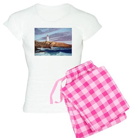 Peggy's Cove Lighthouse Women's Light Pajamas