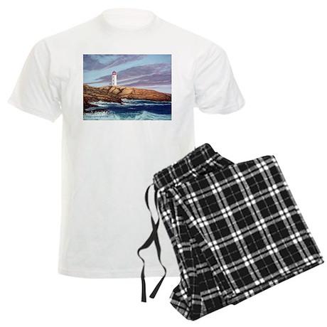 Peggy's Cove Lighthouse Men's Light Pajamas