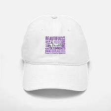 I Wear Violet 46 Hodgkin's Lymphoma Baseball Baseball Cap