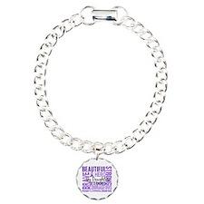 I Wear Violet 46 Hodgkin's Lymphoma Charm Bracelet