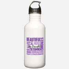 I Wear Violet 46 Hodgkin's Lymphoma Water Bottle