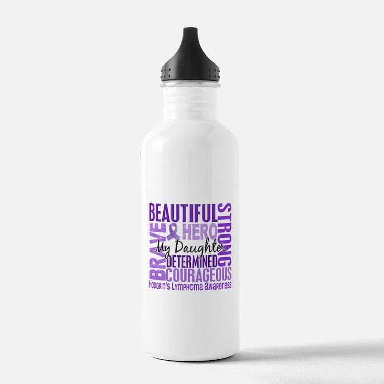I Wear Violet 46 Hodgkin's Lymphoma Water Bottle