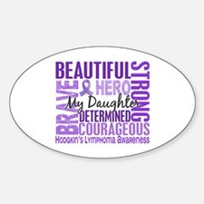 I Wear Violet 46 Hodgkin's Lymphoma Decal