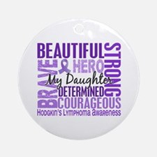 I Wear Violet 46 Hodgkin's Lymphoma Ornament (Roun