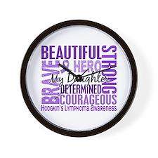 I Wear Violet 46 Hodgkin's Lymphoma Wall Clock