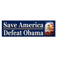 Save America Defeat Obama Bumper Sticker