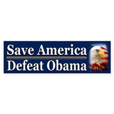 Save America Defeat Obama Bumper Sticker