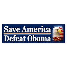 Save America Defeat Obama Car Sticker