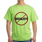No Socialists Green T-Shirt