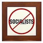 No Socialists Framed Tile