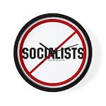 No Socialists Wall Clock