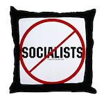 No Socialists Throw Pillow