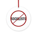 No Socialists Ornament (Round)