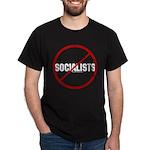 No Socialists Black T-Shirt