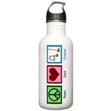 Peace Love Croquet Water Bottle