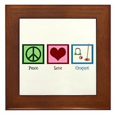 Peace Love Croquet Framed Tile