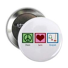 """Peace Love Croquet 2.25"""" Button"""