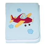 Giraffe - Airplane baby blanket