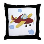 Giraffe - Airplane Throw Pillow