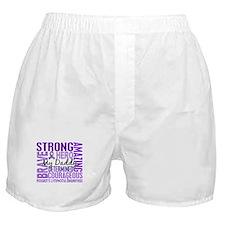 I Wear Violet 46 Hodgkin's Lymphoma Boxer Shorts