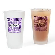 I Wear Violet 46 Hodgkin's Lymphoma Pint Glass