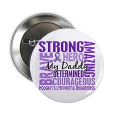 "I Wear Violet 46 Hodgkin's Lymphoma 2.25"" Button"
