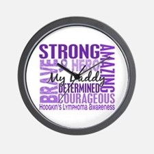 I Wear Violet 46 Hodgkin's Lymphoma Wall Clock