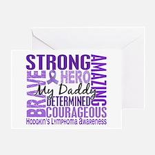 I Wear Violet 46 Hodgkin's Lymphoma Greeting Card
