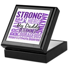 I Wear Violet 46 Hodgkin's Lymphoma Keepsake Box