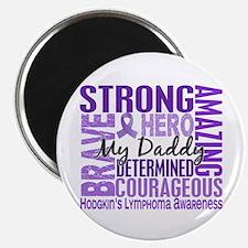 I Wear Violet 46 Hodgkin's Lymphoma Magnet