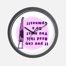 Gymnastics Wall Clock - Read