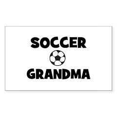 Soccer Grandma Rectangle Decal