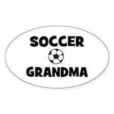 Soccer Grandma Oval Decal