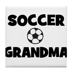 Soccer Grandma Tile Coaster