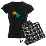 Rainbow Gecko Women's Dark Pajamas
