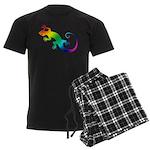 Rainbow Gecko Men's Dark Pajamas