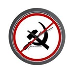 Sickle & Hammer No Communists Wall Clock