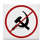 Sickle & Hammer No Communists Tile Coaster