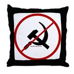 Sickle & Hammer No Communists Throw Pillow