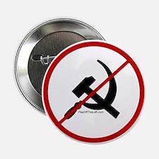 Sickle & Hammer No Communists Button