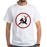 Sickle & Hammer No Communists White T-Shirt