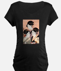 Utamaro's Three Japanese Beau T-Shirt
