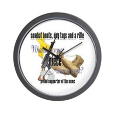 USMC What Does Your Niece Wear? Wall Clock