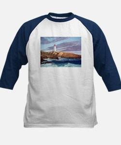 Peggy's Cove Lighthouse Kids Baseball Jersey