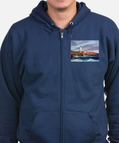 Peggy's Cove Lighthouse Zip Hoodie