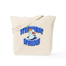 Steamboat Springs Snowman Tote Bag