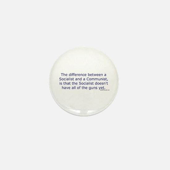 Socialist and Communist Mini Button