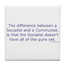 Socialist and Communist Tile Coaster