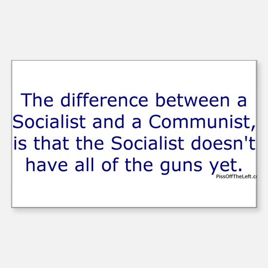 Socialist and Communist Rectangle Decal